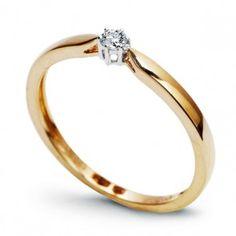 Złoty pierścionek z diamentami - Biżuteria srebrna dla każdego tania w sklepie internetowym Silvea