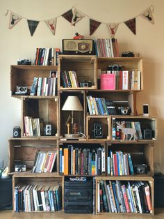 Our perfect little bookcase.