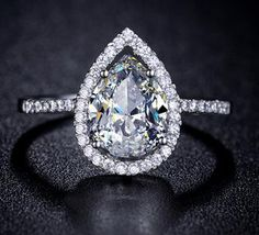 Teardrop Engagement Ring