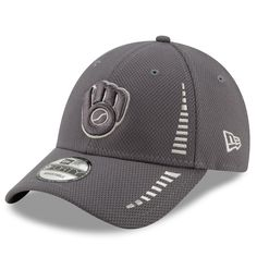 size 40 61bd9 430d1 Men s Milwaukee Brewers New Era Graphite Speed Tech 9FORTY Adjustable Hat,   23.99