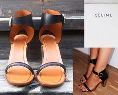 CELINE ankle strap heels