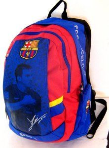 "BEAUTIFUL (!!) Official Licensed Genuine LIONEL MESSI IMAGE & SIGNATURE FC Barcelona Triple Fill High Quality PREMIUM Orthopedic Backpack - Licensed FC Barcelona Merchandise & New with Tags by Barcelona F.C.. $59.99. content is 20 litre; size - height: 19"" (50 cm) x 14"" (34cm). Orthopedic Back with ""air channel "" (pls see photos); Backpack Fabric - Synthetic. Beautiful FC Barcelona LIONEL MESSI IMAGE & SIGNATURE Backpack - Licensed FC Barcelona Merchandise. TRIPLE FILL ..."