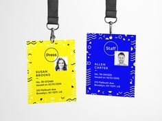 An ultimate collection of free mockup templates PSD designs in different categories like smartphones, bottles, logo and much more! Name Tag Design, Id Card Design, Id Design, Badge Design, Graphic Design, Design Ideas, Print Design, Design Inspiration, Event Branding