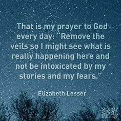 That is my prayer to God every day. Remove the veils so I might see what is really happening here and not be intoxicated by my stories and my fears. Fear Quotes, Quotes To Live By, Life Quotes, Funny Quotes, God Prayer, Daily Prayer, Note To Self, Christian Quotes, Beautiful Words