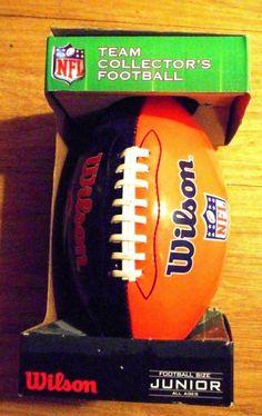 Denver Broncos Junior Wilson Football NFL Team Collectors New in Package   Wilson  DenverBroncos Wilson 31d61fa6dbd5b