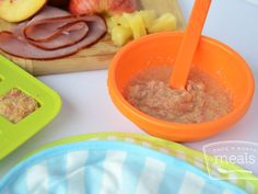 Babies 8+ months will enjoy this Ham, Pineapple, Peach and Apple puree, perfect for eating now or freezing for later.