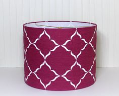 Drum Lamp Shade Lampshades Modern Radiant Orchid by Sassyshades, $95.00