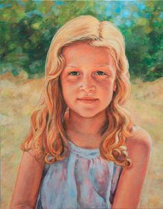 """Sigrid"" Oil on canvas Order similar portrait by Elin Eriksen here. Portrait Art, Portraits, Oil On Canvas, Paintings, Children, Artist, Inspiration, Image, Young Children"