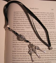 Ribbon Bookmark with beads and charms