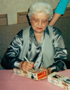 Ruth Handler signing my #1 Barbie.  Jealous?