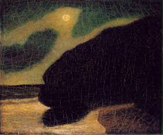 Albert Pinkham Ryder, Moonlit cove (aka Seacoast in Moonlight), the Phillips Collection, Washington, D. Caravaggio, Jackson Pollock, Canadian Artists, American Artists, Nocturne, Abstract Landscape, Landscape Paintings, Landscape Prints, Art Paintings