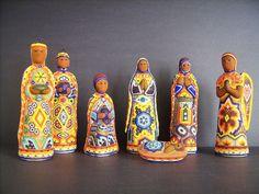 Huichol 7 pc Beaded Nativity Set - Mexico