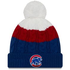 cc15a8332a5 Chicago Cubs Youth Layered Up 2 Cuff Pom Knit by New Era