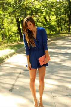 Romper with ruffle detail