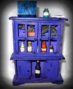 Kitchen Witch Hutch Miniature Doll House by MoonspellCrafts, $5.00