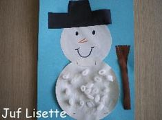 Knutselen 2d: sneeuwpop