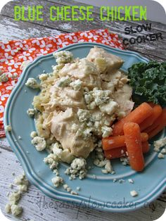 Divine Chicken with Blue-Cheese Sauce in the Slow Cooker! This is the bomb!