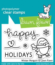 Lawn Fawn Clear Acrylic Stamps - Winter Penguin ~ $3.99 at scrapbook.com