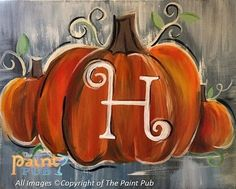DIY Abstract Heart Painting and a Fun Paint Party Fall Canvas Painting, Autumn Painting, Autumn Art, Pumpkin Painting, Fall Paintings, Acrylic Paintings, Painted Canvas Diy, Pumpkin Art, Painting & Drawing