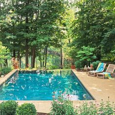10 ideas for pool in garden forest environment sun deck