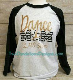 ADULT Baseball / athletic by TwoDandelionsDesigns Dance Mom Shirts, Dad To Be Shirts, Cute Shirts, Team Shirts, Dance Team Gifts, Cheer Dance, Sports Mom, Raglan, Dance Costumes