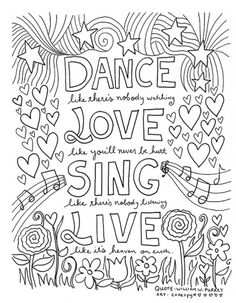 Quote Coloring Pages Idea free coloring book pages for grown ups inspiring quotes Quote Coloring Pages. Here is Quote Coloring Pages Idea for you. Quote Coloring Pages free printable adult coloring book page from color me. Quote Coloring Pages, Free Coloring Pages, Coloring Sheets, Coloring Books, Dance Coloring Pages, Fairy Coloring, Coloring Pages For Grown Ups, Printable Adult Coloring Pages, Pages Doodle