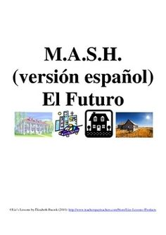 $ Have your students play in Spanish in order to practice the future tense, profession, residence, and transportation vocabulary. - follow my profile for more and visit my website