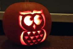 This delightful little owl is brings a cute twist on Halloween pumpkin tradition. Download your free printable owl pumpkin carving template here.