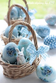 Blue decorated Easter eggs www.MadamPaloozaEmporium.com www.facebook.com/MadamPalooza