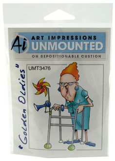 Art Impressions Jean Rubber Stamp