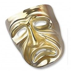 Lachende Venezianische Maske Ballmaske Venedigmaske gold, 3,99 €