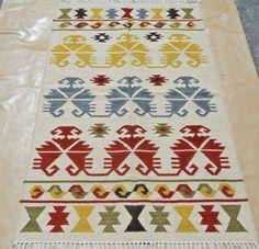 Hand-Woven Geometric 4x6 Kilim Turkish Oriental Area Rug Wool Area Rug Carpet #Handmade #TraditionalPersianOriental