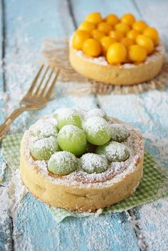 adorable looking fruit tartlets. also i love excuses to use my melon baller...