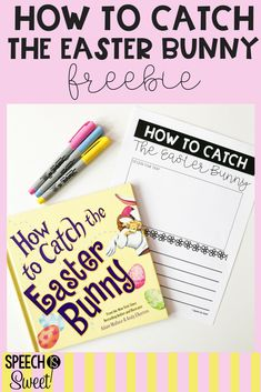 Freebie for How To Catch the Easter Bunny! This is a fun book to use for Easter speech-language therapy! This is also a fun read aloud for an elementary classroom! Speech Therapy Activities, Writing Activities, Easter Activities For Kids, Spring Activities, Easter Speeches, Speech And Language, Therapy Ideas, Read Aloud, Grade 1