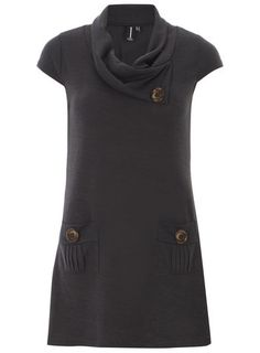 Izabel London Grey Casual Pocket Tunic