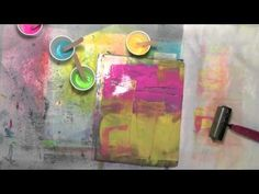 Carolyn Dube - gelli on fabric