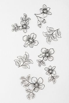 I LOVE LOVE these!! So so want! Wire Flower Sculpture Wall Art - Set Of 8