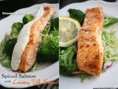 Spiced Salmon with Creamy Dill Sauce