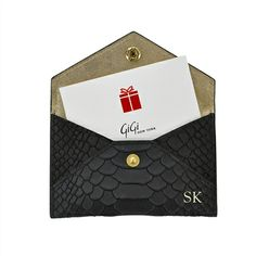 GiGi New York Gift Card with Personalized Leather Card Case…Monogrammed Please!