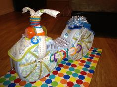 Motorcycle Diaper Cake Baby Shower Diaper von GiftyCreations4You