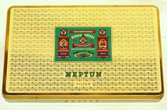 Greek Neptun Flter Kyriazi Flat 50 Cigarette Tobacco Tin