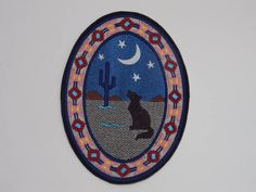 This Southwest Desert Oval design available in 2 sizes: Small x x Large x x You can use this embroidered patch to personalize your jacket, backpack, messenger bag, or just about anything. Use your imagination to show your own style by adding the patch Sew On Patches, Iron On Patches, Embroidered Quilts, Embroidery Thread, Quilt Blocks, Deserts, Sewing, Animal, Handmade
