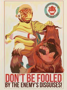 Super Mario Propaganda Posters: Crush The Koopas!