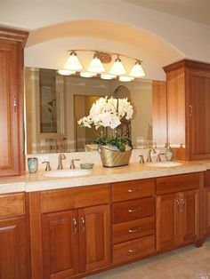 Website Picture Gallery Traditional Master Bathroom with Limestone counters Cascadia Lighting Demitri Empire Silver Bathroom Vanity Light