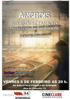 Angrois no esquecemento en @bnodalourense  cine cinema audiovisual @cineclubepf