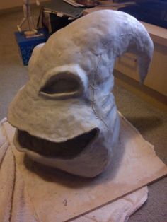 I have began making my Oogie Boogie costume and this is the mold of the head i'm going to cast off of and place under the fabric to keep the shape Oogie Boogie mold Oogie Boogie Costume, A Dime, Cast Off, Holidays Halloween, Nightmare Before Christmas, Lion Sculpture, Skull, Deviantart, Statue
