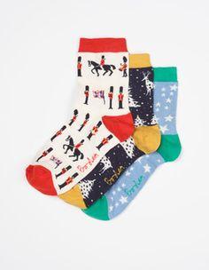 Three Pack Ankle Socks Boden
