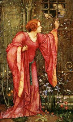 "Edward Reginald Frampton (British, 1872 - 1923), ""Stone Walls Do Not a Prison Make, Nor Iron Bars a Cage"""