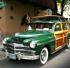 1949 PLYMOUTH WOODIE~ Love the green color with the wood....