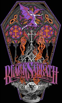Black Sabbath gig poster by Carin Hazmat January 22 2016 Stoner Rock, Heavy Metal Rock, Heavy Metal Music, Heavy Metal Bands, Hard Rock, Music Artwork, Metal Artwork, Art Music, Rock Posters